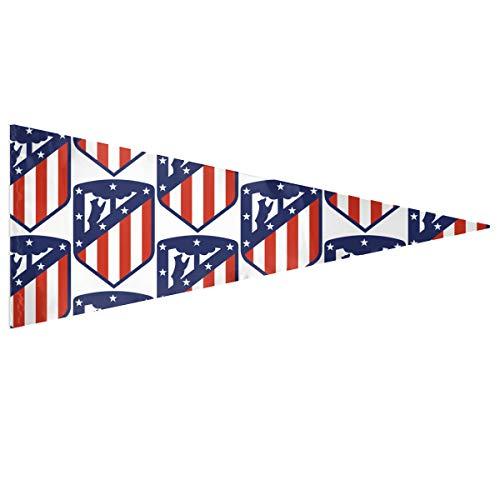 NA Banderín de Fútbol Bandera Atlético de Madrid Mini Bandera Portátil 30x76 CM