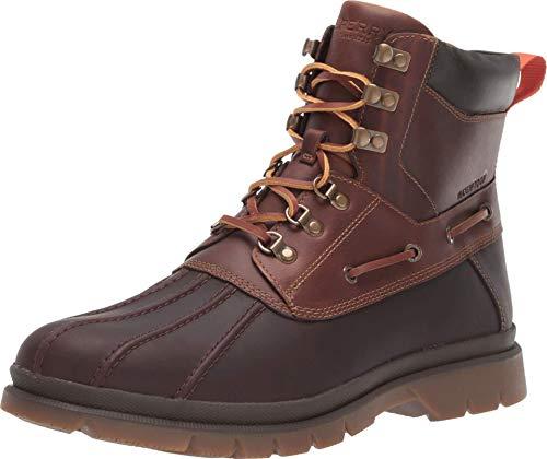 Sperry Men's Watertown Duck Rain Boot, Brown/Tan, 11