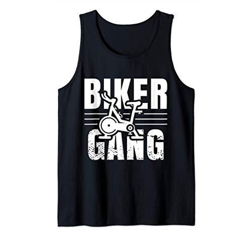 Funny Biker Gang Spin Saying Gym Workout Spinning Class Gift Camiseta sin Mangas
