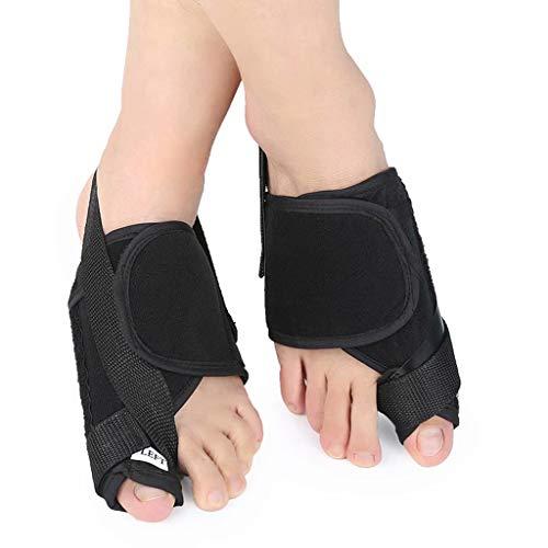 YANBINYA Hallux Valgus Ortesis, alisadores del Dedo del pie Grandes con función Auto-Calentamiento, por superposición de Alivio del Dolor del Dedo del pie/juanete(Negro,S)