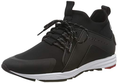 HUGO Hybrid_Runn_lylg, Zapatillas para Mujer, Negro (Black 001), 37 EU