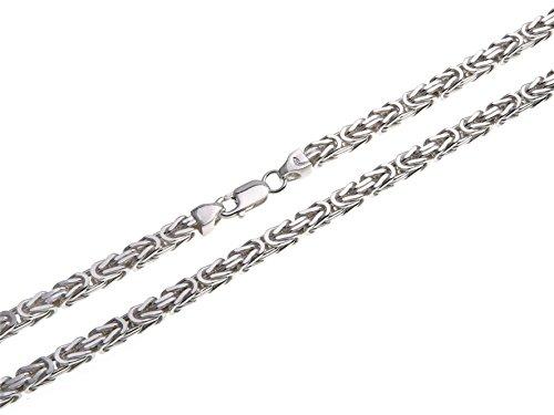 Königskette 4,5mm, Silberkette - Länge wählbar 38-120cm - echt 925 Silber