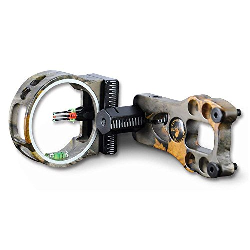 Great Deals LLC 3 Pin Bow Sight - Fiber, Brass Pin, Aluminum Machined - Right and Left Handed