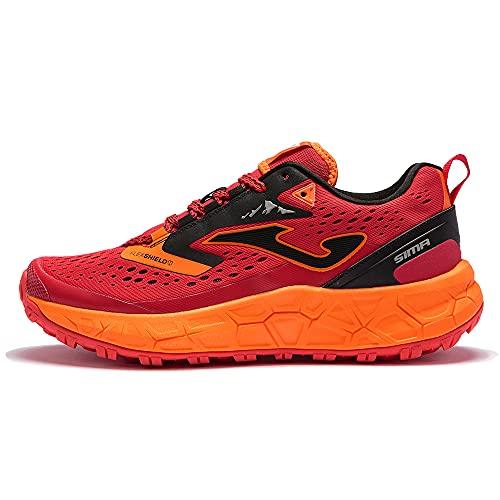 JOMA SIMA 2106 Red, Zapatillas de Trail para Hombre, Rojo/Naranja, EU 44