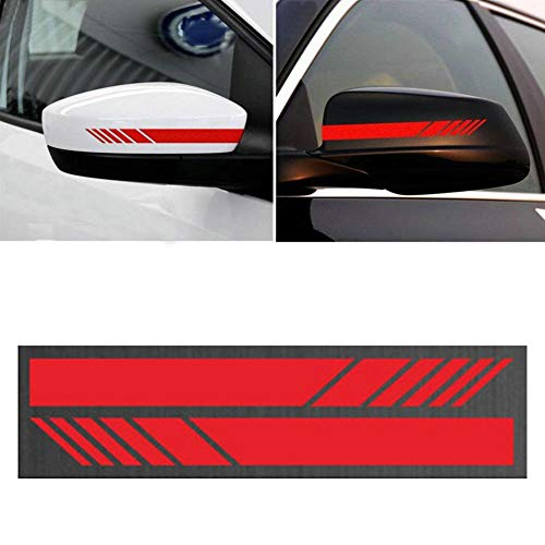 AmerStar DIY Car Auto Car Body Sticker Side Decal Stripe Decals SUV Vinyl Graphic Red