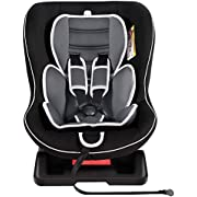 Meinkind Autositz Kindersitz Kinderautositz, Universal, Gruppe 0+/1(0-18kg)(0-4 Jahre Alt) mit 2 Kopfstützen, gepolstertem Sitz, 3 Liegepostition einstellbar - (Schwarz)