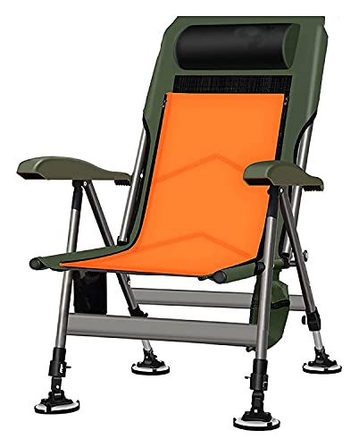 LHaoFY Folding Camping Chair, Sun Lounger Jardin with Pillow And Side Pocket, Backrest 5 Position Adjustment, Garden Recliner for Beach, Swimming Pool, Outdoors And Indoors