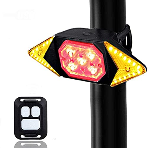 ADGH Bike Backlights USB Rechargeable Bicycle Turn Signal Light Bike Rear LED Lamp Warning Taillight Lamp Cycling Riding Equipment