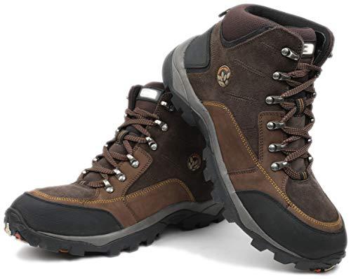 Woodland Men's Brown Leather Boots-7 UK/India (41 EU) (GB 1207112CMA)