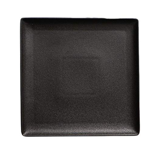 YNHNI Placa solomillo Placa Cuadrada Placa de cerámica Regalo vajilla Europea Placa Plana del hogar vajilla (Size : 25 * 25CM)