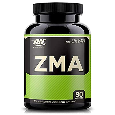 Optimum Nutrition ON ZMA, Vitamins and Minerals, Zinc, Magnesium and Vitamin B6 Supplement, Unflavoured, 90 Servings, 90 Capsules
