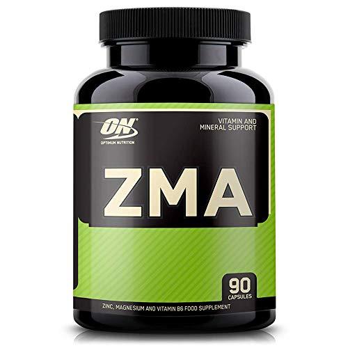 Optimum Nutrition ZMA, Vitaminas y Minerales, Zinc, Magnesium y Vitamina B6, Sin Sabor, 90 Porciones, 90 Cápsulas