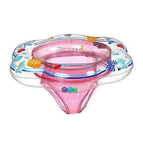 globalqi Baby-Schwimmring schwimmt mit Sicherheitssitz, Doppel-Airbag-Schwimmringe für Babys, Schwimmschwimmer für Pool-Schwimmtraining, Aid Kids PVC-Schwimmring für Kleinkinder von 6-24 Monaten
