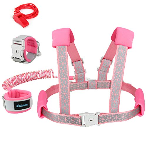 Blisstime 2 in 1 Reflective Toddler Leash -Anti Lost Wrist...