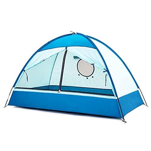ZHANGCHUNLI Tienda de Campaña Tiendas Portable Tienda De Niños Al Aire Libre A Prueba De Viento Carpa para Camping Interior Ocio Casa De Juegos Portátil,Azul