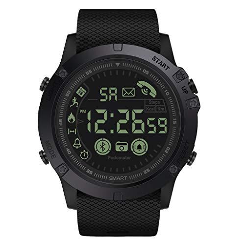 Smartwatch Damen Herren für Android iOS, Paticess Bluetooth Sportuhr Smart Watch Wasserdicht Fitness Tracker Armbanduhr mit Schrittzähler,Stoppuhr,Call SMS Benachrichtigung Push für iPhone Smartphone