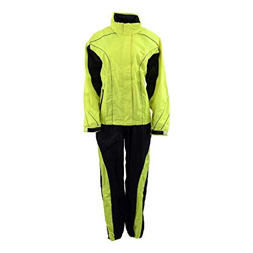 NexGen Men's XS5021 Neon Green Hi-Viz Hooded Water Proof Rain Suit - 5X-Large