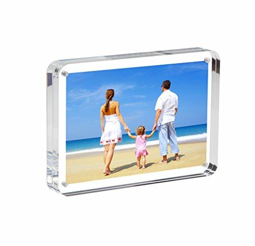 NIUBEE Acryl Bilderrahmen Acrylglas Querformat Transparenter Mode Foto-Bilderrahmen Desktop 13cmx18cm(5x7inch)