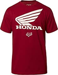 "100% Cotton, 170grm Fox X Honda Collection Official Licensed Honda Gear Special Ink To Ensure A Soft Print Crewneck / Short Sleeve, Length (HPS): 30"" Size Large"