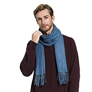 Thick Winter Scarf for Women Men, Soft Warm Cashmere Shawls Wraps, Large Size