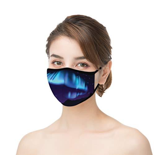 Yurgrt 3Pcs Hautfreundlich Facecover,Mund Und Nasenschutz,Bandana Halstuch,Anti-Spucken,Staubdicht Und Winddicht,Mehrweg Atmungsaktiv Stoff Waschbar Gesichtsschutz Mundschutz für Freizeit