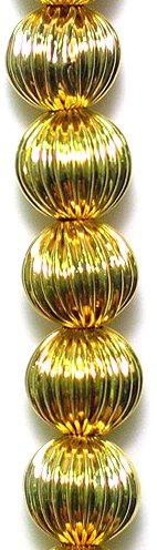 Expo bd53491rund Plissee Metall Perlen, 8Perlen in Strand