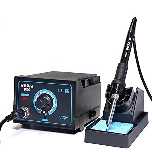 45W Kit del Estacion de soldadura digital, UNISOPH 200ºC-480ºC Estación de Soldadura Estano Electronica Ajustable Pistola de Calor para Placa de Circuito TeléFono MóVil PortáTil