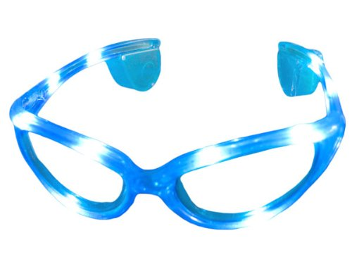 Alsino Blinkende LED blink Brille blau Blinky Eyewear Karneval