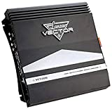 2-Channel High Power MOSFET Amplifier - Slim 2000 Watt Bridgeable Mono Stereo 2 Channel Car Audio Amplifier w/ Crossover Frequency and Bass Boost Control, RCA input and Line Output - Lanzar VCT2210