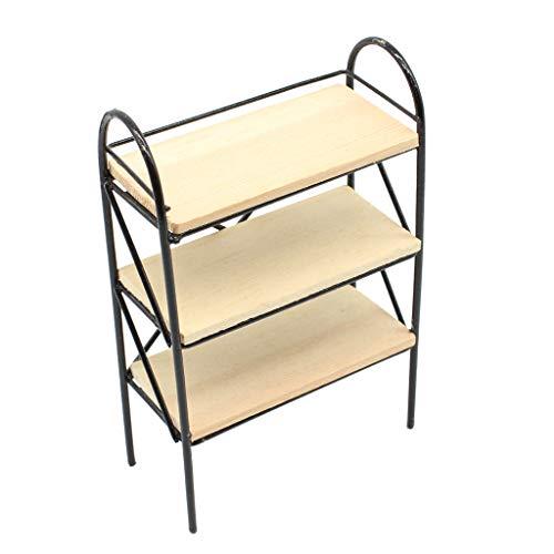 Nobranded Dollhouse Miniatures - Estantería de Metal 1/12 Modelo de Estantería para Libros, para Muñecas