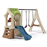Beauty.Scouts Kinderspielhaus Pumba aus Kunststoff 213,4x283,2x190,5cm bunt mit Schaukel + Rutsche...