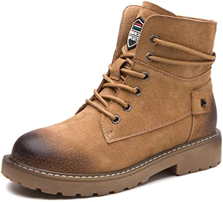 HOESCZS Damenschuhe Herbst Und Winter Damenschuhe Kurze Stiefel Stiefel Damen Martin Stiefel Damen Stiefel Lederstiefel  billig