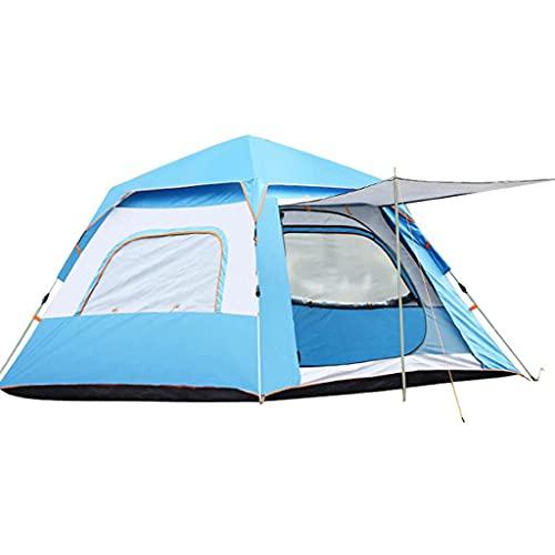 ZCZZ Camping para 3-4 Personas, 5-6 Personas, Impermeable y a Prueba de Viento, fácil de Instalar, mochilero, ventilado y Adecuado para Viajes al Aire Libre y de Senderismo.