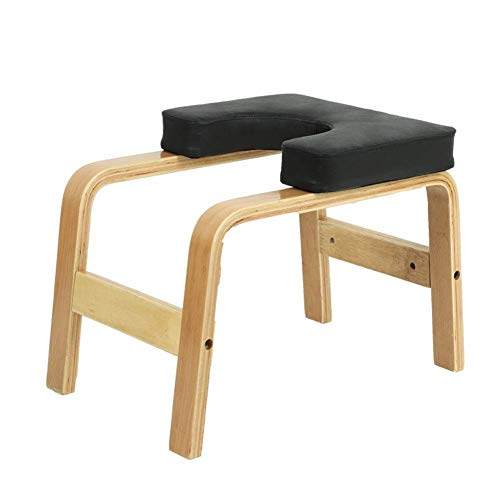 Hazjje-zatr061 Inverted Chair Yoga Auxiliary Chair Ergonomic Design Makes The Inverted Stand Easier Home Fitness Inverted Stool Wooden Inverted Machine Inverted Yoga Lovers Gift ( Color : Black )