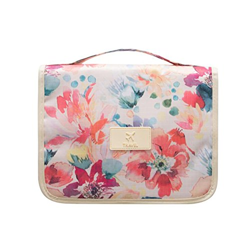 NOVAGO Kulturtasche Toiletbag - Größe L (Bunte Blumen)