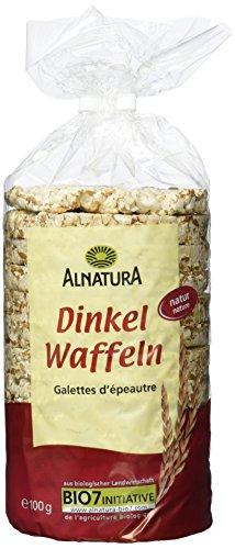 Alnatura Bio Dinkelwaffeln Natur, vegan, 12er Pack (12 x 100 g)