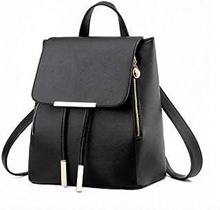 حقيبة ظهر كلاسيكية ومدرسية للمراهقات، مصنوعة من البولي يوريثين