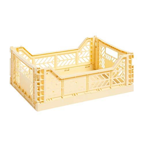 Hay Colour Crate M, Transportbox, gelb, Höhe: 14,5 cm, Tiefe: 30 cm, Länge: 40 cm, 507673