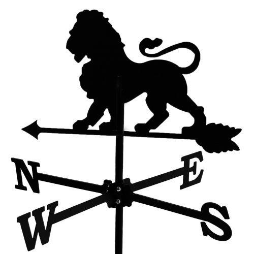Girouette Lion en fer forgé petit modèle