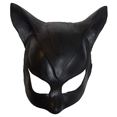 Black Sugar - Gorra Catwoman Halloween sexy gato negro látex cabeza Cosplay divertido disfraz disfraz disfraz talla única