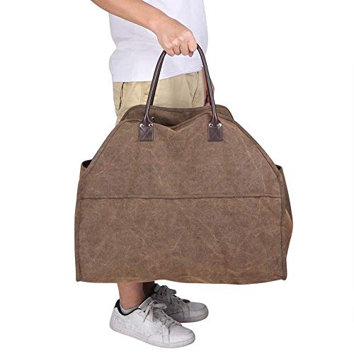 Fantastic Deal! Canvas Firewood Bag, Multi-Purpose Firewood Bag Folding Portable Bag Log Carrier for...