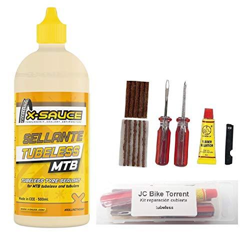 X- Sauce 500ml + Kit reparación tubeless MTB