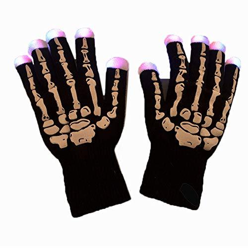 Heldere handschoenen, LED-handschoenen, warm, verlicht, kerstartikel, Halloween