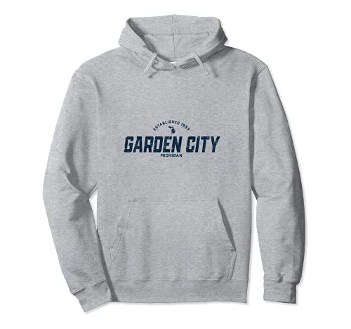 Garden City ミシガン州 ヴィンテージ アスレチック ネイビー スポーツロゴ パーカー