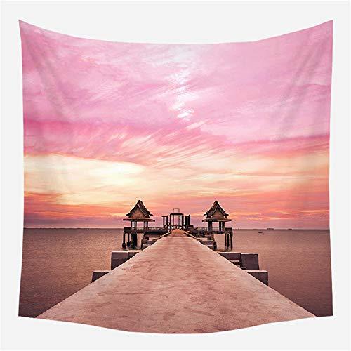 Tapiz de Pared Tapiz de paisaje rosa 5 Tapiz Decoración del hogar para Dormitorio Sala de Estar 150cm X 200cm