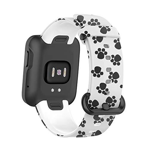 WIIKAI Compatible con Redmi Watch/for Mi Watch Lite Correas para Relojes, Correa de Pulsera de Reemplazo.(Pies)