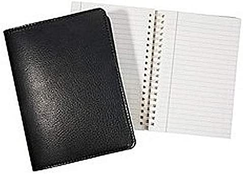 Bombing new work Wire-O-Notebook 9in Traditional Black Fine Leather Over item handling by Im Graphic