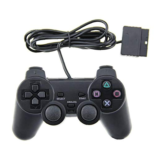 1 Packung Ps2 Wired Controller Kompatibel Mit Sony Ps2 Playstation 2 - Schwarz