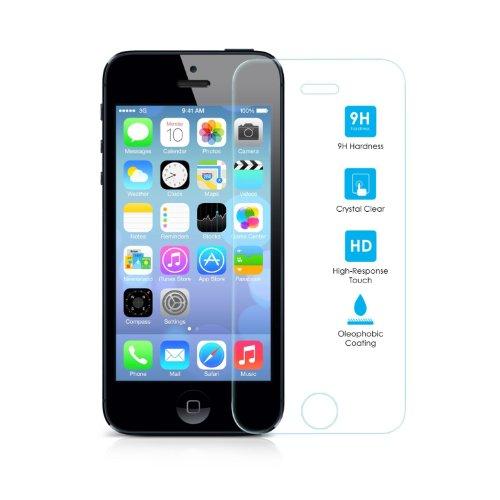 etec24® iPhone 5 / 5s / 5s beschermglas gehard glas kogelvrij glas film echt glas 100% screen protector beschermfolie pantserfolie screen protector Premium 0,3 mm gehard glas Screen Protector (voor iPhone 5 / 5s)