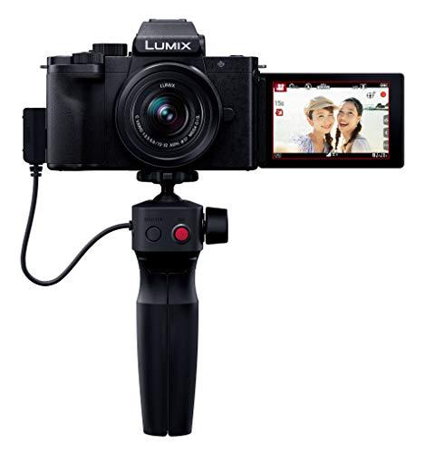 パナソニック ミラーレス一眼カメラ ルミックス G100V 標準ズームレンズキット トライポッドグリップ付属 ...